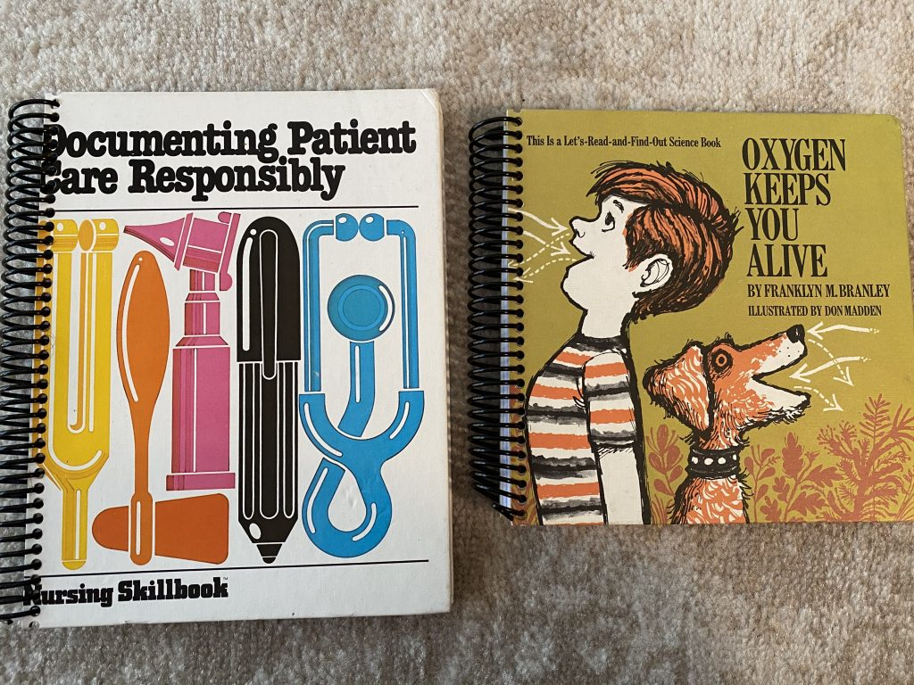 Photo of two notebooks made from vintage books